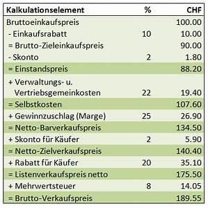 Nettomarge Berechnen : handelskalkulation so ermitteln sie ihre produktkosten ~ Themetempest.com Abrechnung