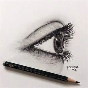 Eye Looking Right Drawing