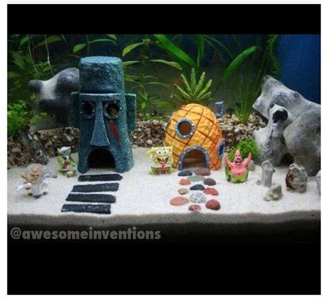 Spongebob Aquarium Decor Philippines by How To Decorate Your Boring Fish Tank Fish Spongebob