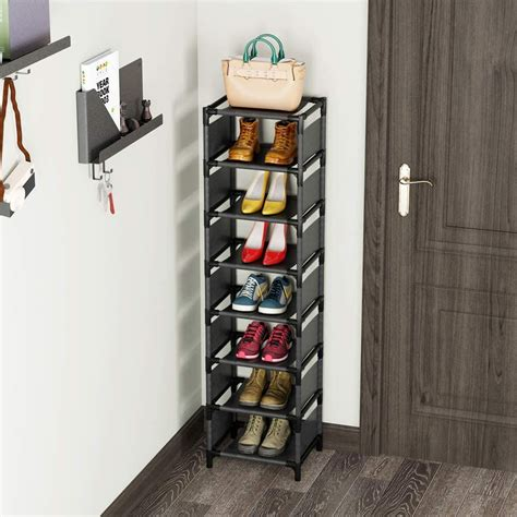 tribesigns shoe rack organizer 7 tiers stackable vertical
