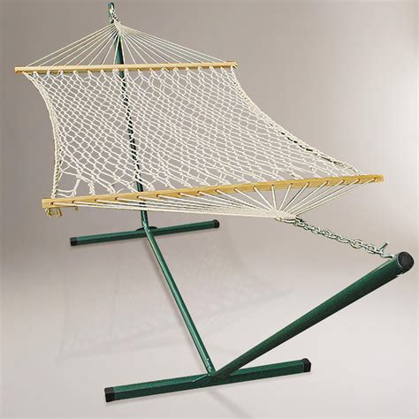 hammock with stand cotton rope single hammock with stand world market