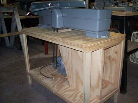 woodwork jointer stand plans  plans craftsman benches