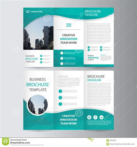 Three Quarters Apple Brochure Template Design And Layout Abstract Green Polygon Trifold Leaflet Brochure Flyer