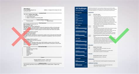 call center resume sle and complete guide 20 exles