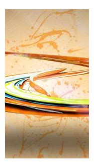 Shiny colorful paint swirl - 3D wallpaper