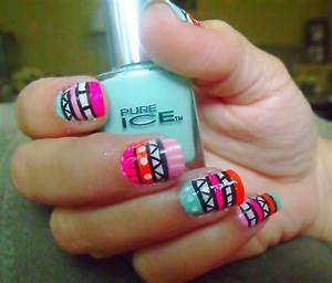 Cute summer nail designs tumblr summer spring nails via tumblr view images aztec nails cute design girl girly hipster nail art prinsesfo Images