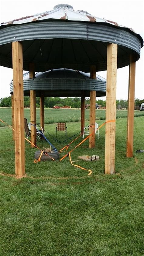 grain bin gazebo hot tubs insects and cribs on pinterest