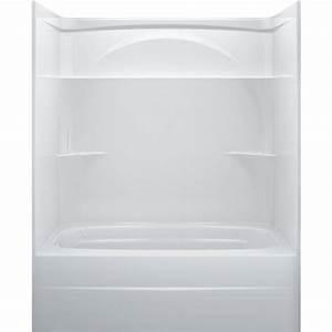 Shop Delta White Acrylic One Piece Shower With Bathtub