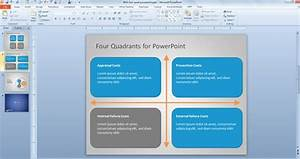 Free Four Quad Diagram For Powerpoint Free Powerpoint