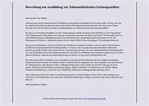 Bewerbung Zur Ausbildung : zahnmedizinische fachangestellte bewerbung um ausbildung muster und tipps ~ Eleganceandgraceweddings.com Haus und Dekorationen