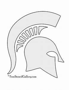 spartan helmet stencil free stencil gallery With spartan mask template