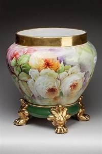Cache Pot Sur Pied : limoges paroutaud cache pot en porcelaine sur socle pieds ~ Premium-room.com Idées de Décoration