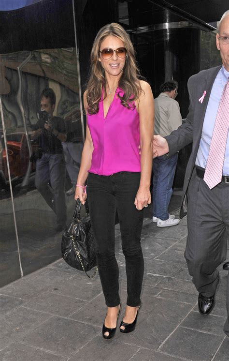 elizabeth hurley fitted blouse  stylebistro