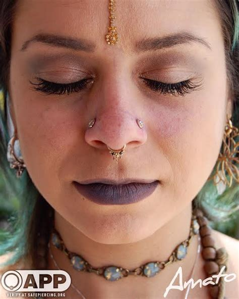piercing trend paired nostrils amato fine jewelry