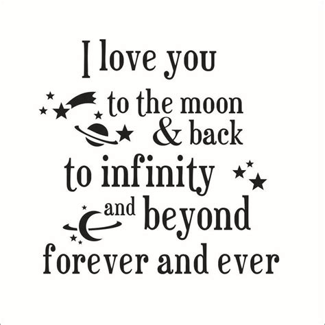 i you to the moon and back quotes wall stickers new