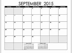 8 Best Images of September 2015 Printable Calendar By