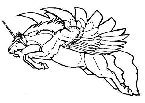coloriage licorne volante img