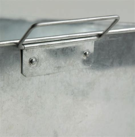 Rectangle Galvanized Tub by Galvanized Rectangle Tub With 2 Handles 14x10 With Liner