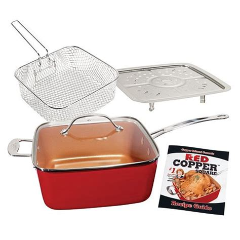 red copper  pc cookware set    tv