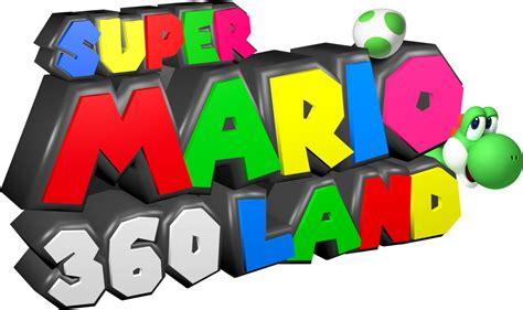 Custom ''super Mario 360 Land'' Logo Design By C-e-studio