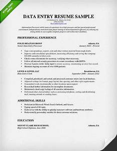Data entry resume sample best professional resumes for Data entry resume sample