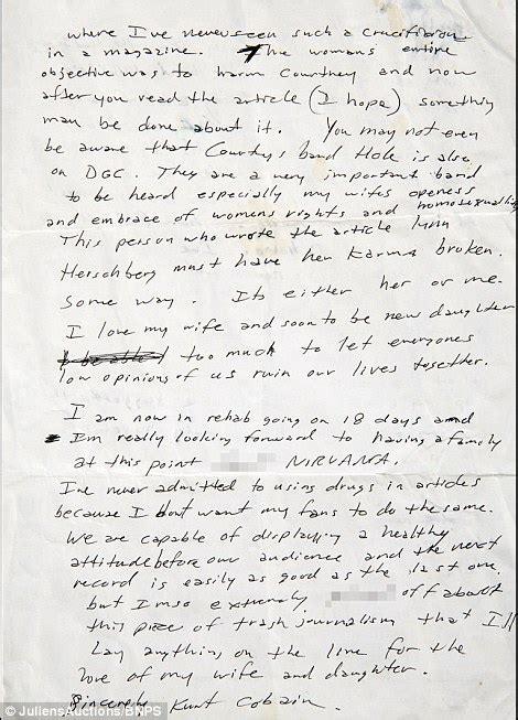 kurt cobain letter kurt cobain wrote to david geffen outraged about magazine 31427