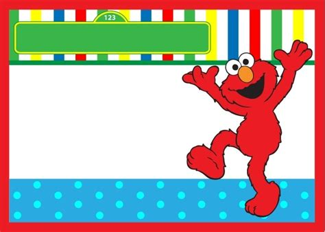 elmo template start your with sesame birthday invitations