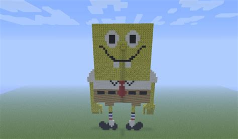Spongebob Squarepants In Pixel Art Minecraft Project