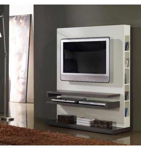 cadeau original cuisine meuble tv design gris et blanc laqué deco et saveurs