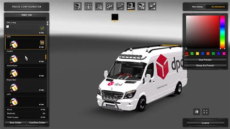 mercedes sprinter long  skinpack ets euro truck