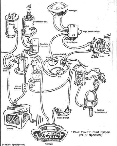 Shovelhead Wiring Diagram by Simplified Wiring Diagram For Shovelhead Wiring Diagram