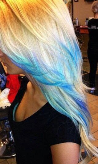 Blonde With Blue Tips Hair Colors