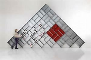 Etagere Murale Triangle : l 39 tag re murale design 82 id es originales ~ Teatrodelosmanantiales.com Idées de Décoration