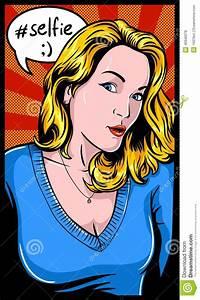 Selfie Girl stock vector. Image of 1960s, lifestyles ...