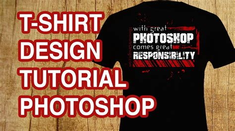 how to design a t shirt with text photoshop tutorial youtube