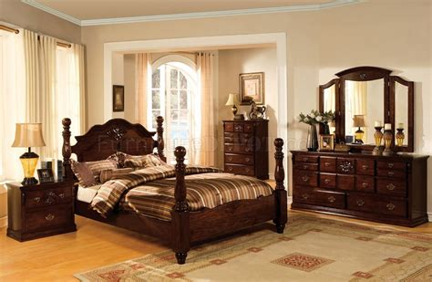 Cm7571 Tuscan Ii Bedroom In Glossy Dark Pine W/options