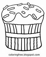 Coloring Drawing Butter Peanut Pages Pastry Cupcake Clipart Sketch Teenagers Chocolate Printable Baking Getdrawings Sheet Template sketch template