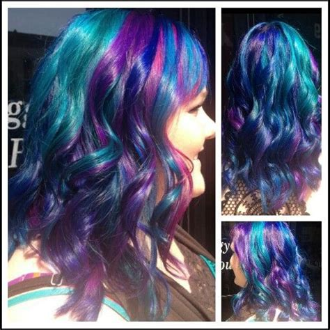 Blue Purple Teal Turquoise And Pink Hair Make Me Up