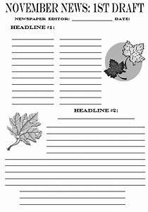 Newspaper article template printable quotes for Free printable newspaper template for students