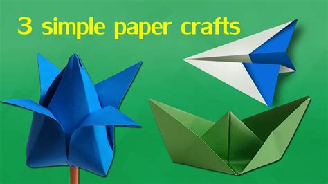 simple paper crafts  kids easy paper craft  kids