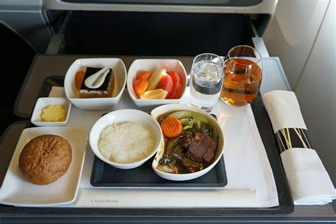 cathay pacific business class meal airplanes airports