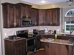 How to stain kitchen cabinets home furniture design for Stained kitchen cabinets