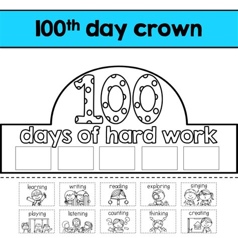 100th Day Of School Crown Template K Is For Kinderrific