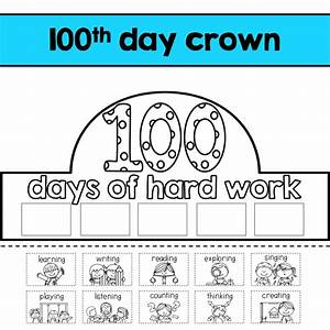 k is for kinderrific 100th day of school With 100th day of school crown template