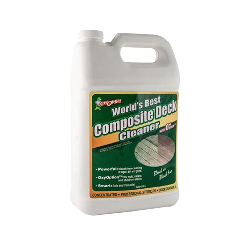 trex deck cleaner chomp 1 gal composite deck cleaner 53040 the home depot