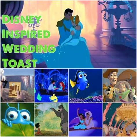 disney inspired maid  honor wedding toast