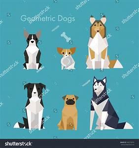 Low Poly Geometric Animal Dog Vector Stock Vector ...
