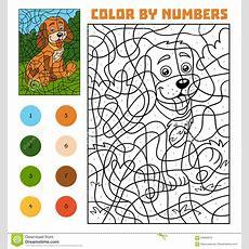 Color By Number For Children, Dog Stock Vector  Illustration 93683913