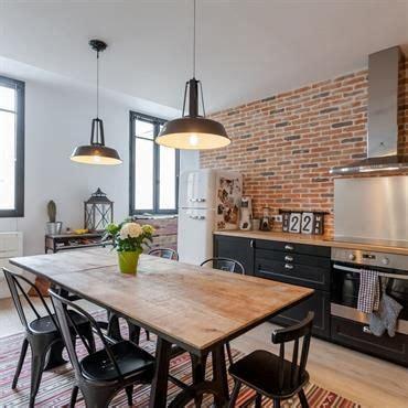 table cuisine industrielle cuisine style industriel deco maison
