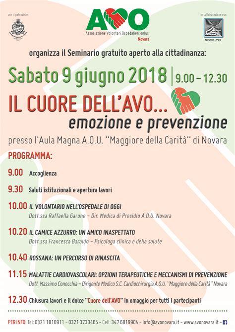 Orari Popolare Novara A V O Associazione Volontari Ospedalieri Novara